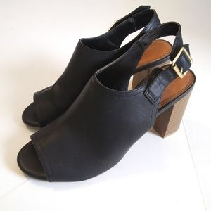 Old Navy Peep Toe Black Jack Booties Size 9